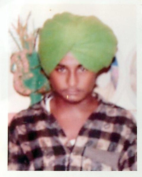 Photo of Sukhdev Singh, victim of extrajudicial execution on November 21, 1991Unknown type of security forces
