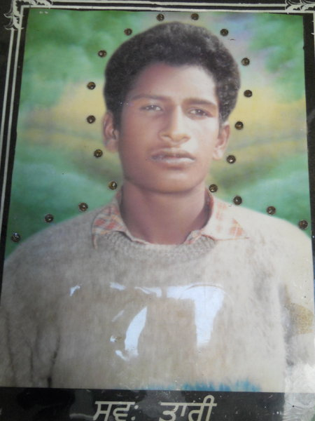 Photo of Avtar Singh, victim of extrajudicial execution between January 14, 1993 and January 31,  1993, in Jhabal Kalan, by Punjab Police
