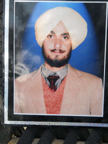 Photo of Sarabjit Singh, victim of extrajudicial execution on July 18, 1991, in Tarn Taran, Jhabal Kalan,  by Punjab Police; Central Reserve Police Force, in Jhabal Kalan, by Punjab Police