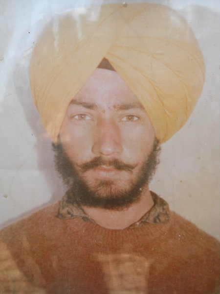 Photo of Dalbir Singh, victim of extrajudicial execution on June 17, 1992, in Tarn Taran, Jhabal Kalan, by Punjab Police; Central Reserve Police Force; Black cat