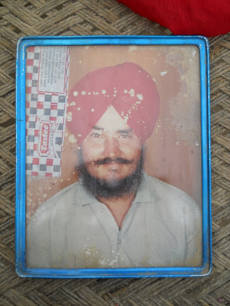 Photo of Gurbinder Singh, victim of extrajudicial execution on October 8, 1990, in Patti, by Punjab Police