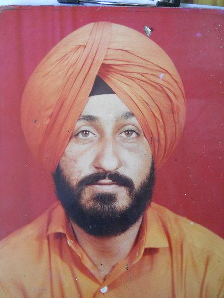 Photo of Gurbir Singh, victim of extrajudicial execution between December 18, 1992 and December 20,  1992, in Jhabal Kalan, by Punjab Police