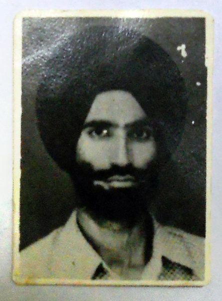 Photo of Gajjan Singh, victim of extrajudicial execution on July 18, 1984, in Chak Sikandar 38th Battalion CRPF Camp, by Central Reserve Police Force