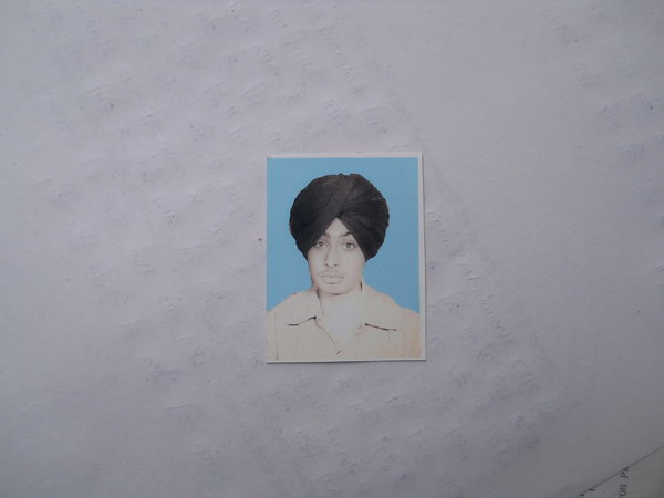 Photo of Harwinder Singh, victim of extrajudicial execution between April 14, 1987 and April 19,  1987 by Central Reserve Police ForcePunjab Police