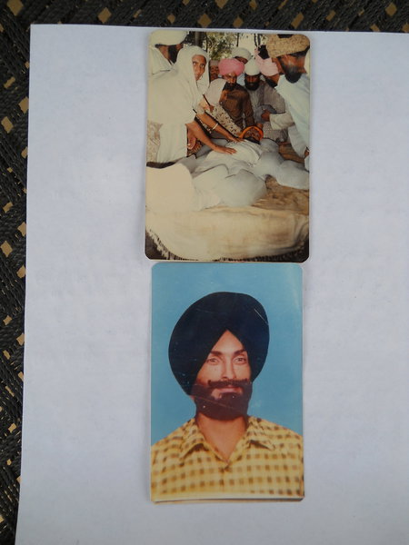 Photo of Kashmir Singh, victim of extrajudicial execution on May 26, 1990, in Jhabal Kalan, by Punjab Police