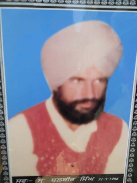 Photo of Balbir Singh, victim of extrajudicial execution on May 31, 1986Central Reserve Police Force