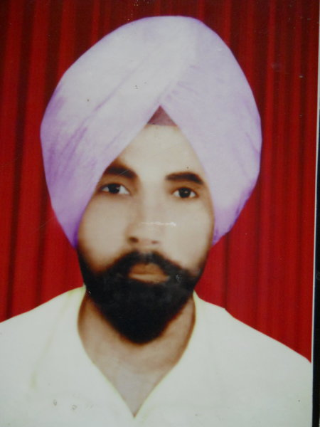 Photo of Ram Singh, victim of extrajudicial execution between March 19, 1991 and April 20,  1991, in Firozpur, by Punjab Police