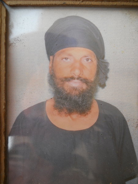 Photo of Jaswinder Singh, victim of extrajudicial execution on July 30, 1990, in Amritsar, by Punjab Police