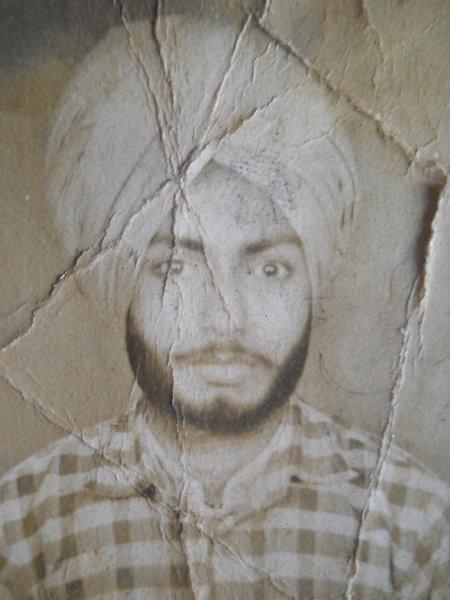 Photo of Makhan Singh, victim of extrajudicial execution between January 1, 1990 and January 31,  1990, in Sarhali Kalan, by Punjab Police