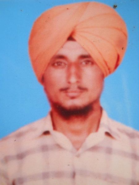 Photo of Balraj Singh, victim of extrajudicial execution on July 19, 1990, in Sarhali Kalan, by Punjab Police