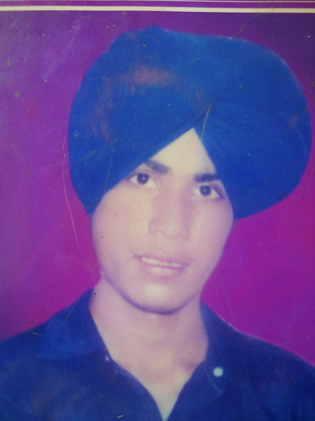 Photo of Balwinder Singh, victim of extrajudicial execution on August 18, 1989, in Jhabal Kalan,  by Punjab Police; Central Reserve Police Force, in Jhabal Kalan, by Punjab Police