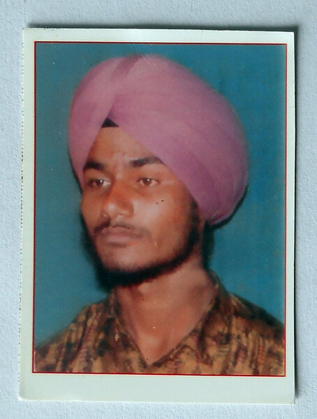 Photo of Naunihal Singh, victim of extrajudicial execution between November 20, 1993 and December 10,  1993, in Khadur Sahib, by Punjab Police