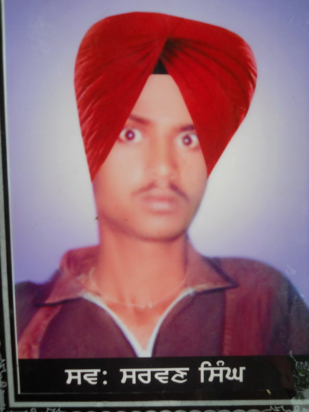 Photo of Sarwan Singh, victim of extrajudicial execution on July 25, 1991, in Harike, by Punjab Police