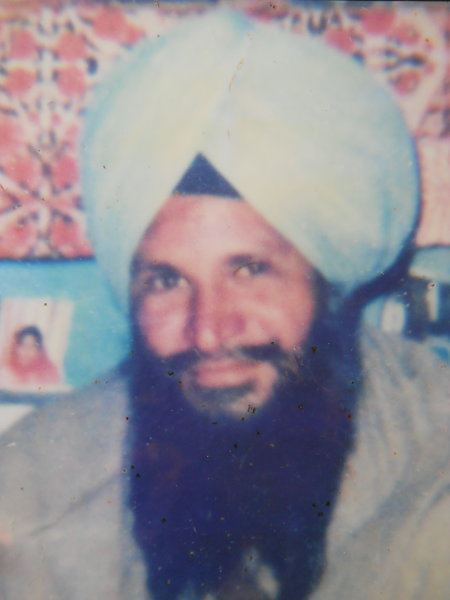 Photo of Shital Singh, victim of extrajudicial execution on March 30, 1988, in Ludhiana, 63rd Battalion CRPF Camp, by Army