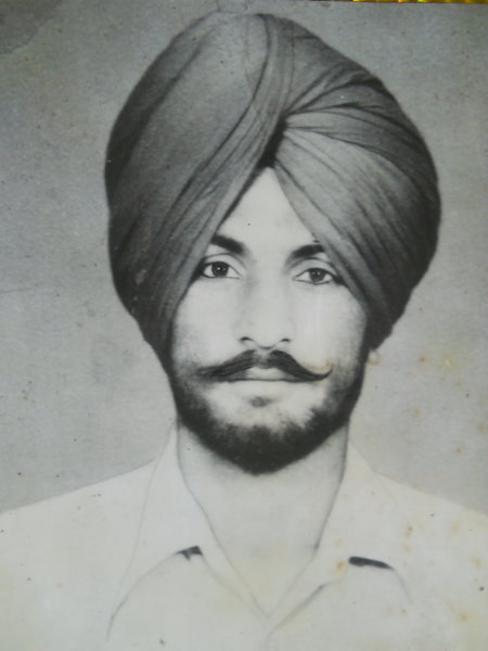 Photo of Gurdip Singh, victim of extrajudicial execution on May 17, 1987, in Manochahal,  by Punjab Police; Central Reserve Police Force, in Sarhali Kalan, by Punjab Police