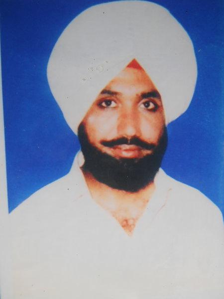 Photo of Kuldeep Singh, victim of extrajudicial execution on July 05, 1992, in Tarn Taran CIA Staff, by Punjab Police