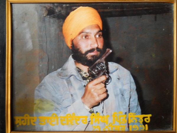 Photo of Davinder Singh, victim of extrajudicial execution on November 29, 1991, in Kathu Nangal, by Punjab Police