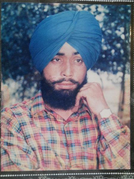 Photo of Baljinder Singh, victim of extrajudicial execution on November 15, 1992, in Tarn Taran, by Punjab Police