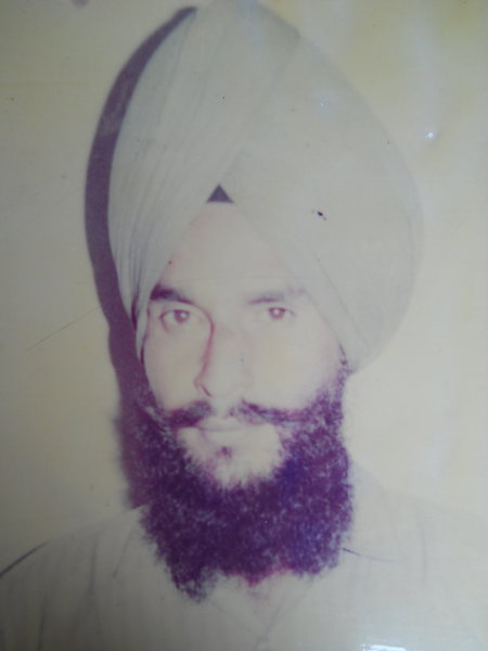 Photo of Palwinder Singh, victim of extrajudicial execution on April 11, 1992, in Mehta, by Punjab Police; Army