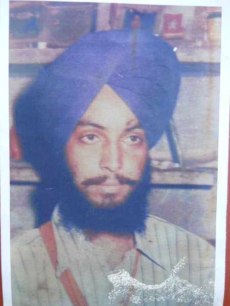 Photo of Harjit Singh,  disappeared on April 29, 1992, in Gaggar Bhana,  by Punjab Police; Black cat