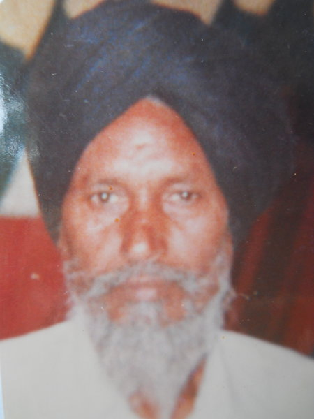 Photo of Dalip Singh, victim of extrajudicial execution on September 11, 1988, in Baba Bakala, by Punjab Police