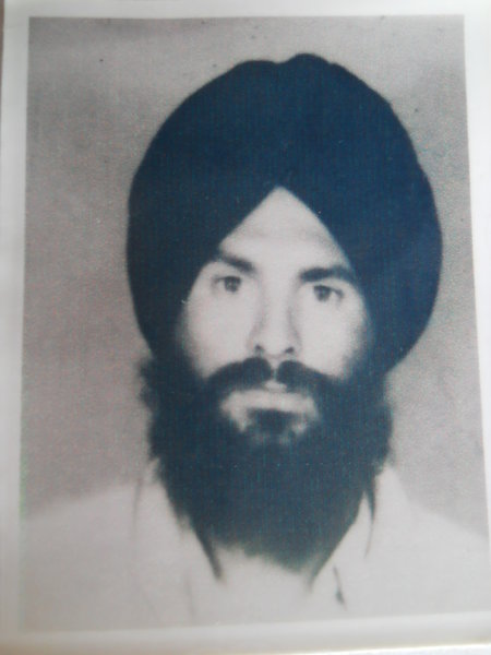 Photo of Harjinder Singh,  disappeared on March 30, 1992, in Beas,  by Punjab Police; Central Reserve Police Force