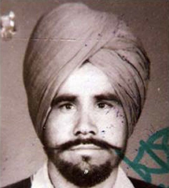 Photo of Bachan Singh, victim of extrajudicial execution on June 01, 1991, in Beas, by Punjab Police; Black cat