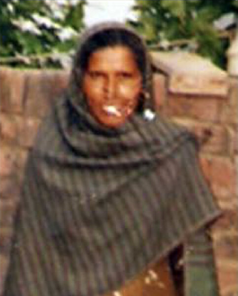 Photo of Darshan Kaur, victim of extrajudicial execution on June 01, 1991, in Beas, by Punjab Police; Black cat