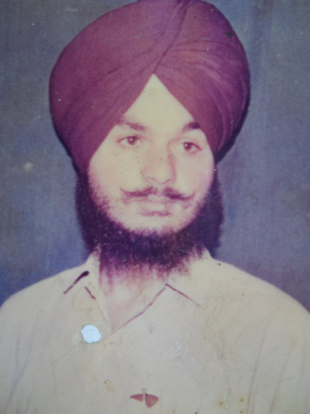 Photo of Shamsher Singh, victim of extrajudicial execution on October 25, 1990 by Unknown type of security forces, in Majitha, by Punjab Police