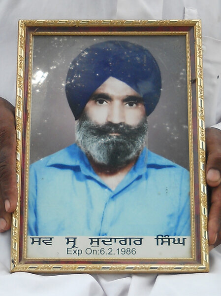 Photo of Sudsgar Singh, victim of extrajudicial execution on February 6, 1986Army