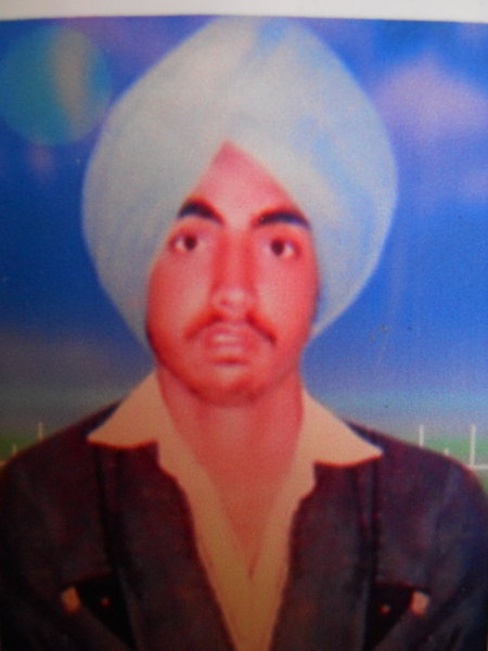 Photo of Mangal Singh, victim of extrajudicial execution on March 3, 1989, in Lopoke, by Punjab Police; Central Reserve Police Force
