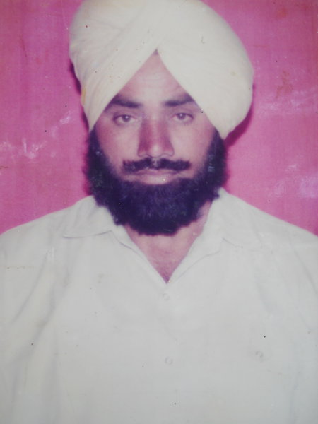 Photo of Daljit Singh, victim of extrajudicial execution on November 16, 1992, in Ajnala, by Punjab Police