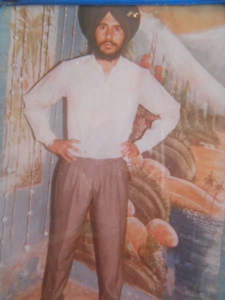 Photo of Tasbir Singh, victim of extrajudicial execution on September 6, 1991, in Raja Sansi CRPF Camp, by Central Reserve Police Force