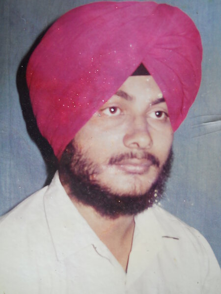 Photo of Gurmej Singh, victim of extrajudicial execution on August 15, 1992, in Majitha, by Punjab Police
