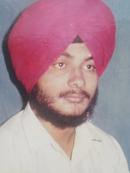 Photo of Satnam Singh, victim of extrajudicial execution between June 1, 1992 and July 31,  1992, in Sidhwan Bet, by Punjab Police