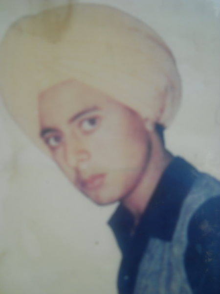 Photo of Puran Singh, victim of extrajudicial execution between April 10, 1988 and April 20,  1988, in Batala, by Punjab Police