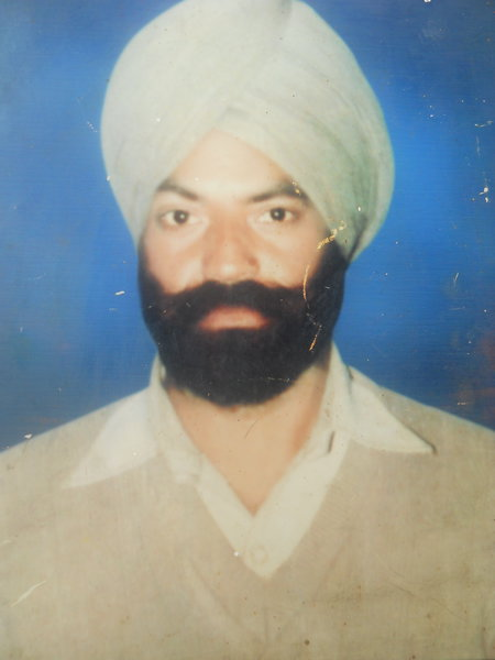 Photo of Pritam Singh, victim of extrajudicial execution on March 30, 1993, in Kathu Nangal, by Punjab Police