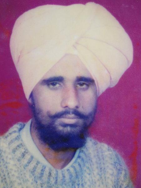 Photo of Kulwinder Singh, victim of extrajudicial execution on May 27, 1992, in Khemkaran, Valtoha, by Punjab Police