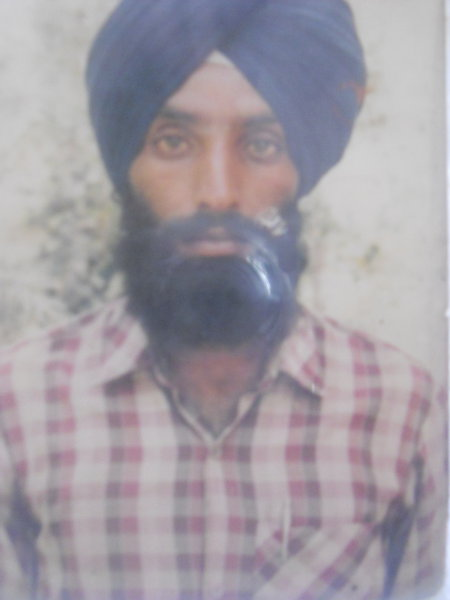 Photo of Hardeep Singh, victim of extrajudicial execution on July 12, 1989, in Gharinda, by Punjab Police