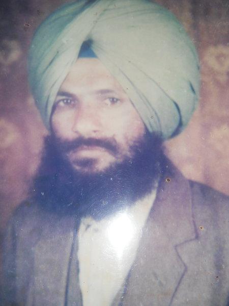 Photo of Gurnam Singh, victim of extrajudicial execution on July 14, 1991, in Garhshankar, by Punjab Police
