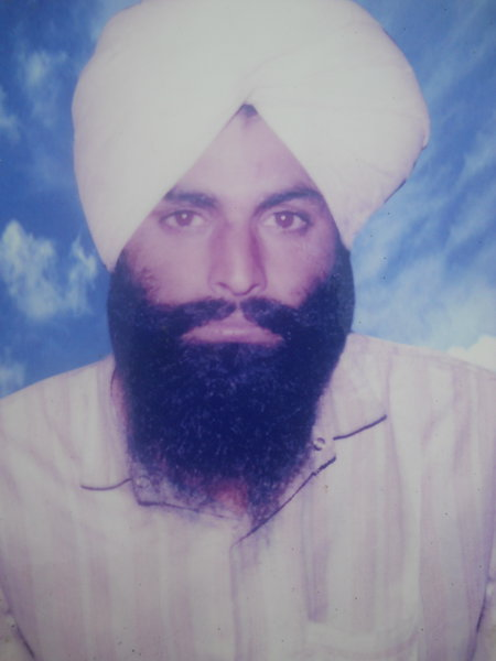 Photo of Harbhajan Singh, victim of extrajudicial execution on June 26, 1991, in Mehta, by Punjab Police; Central Reserve Police Force