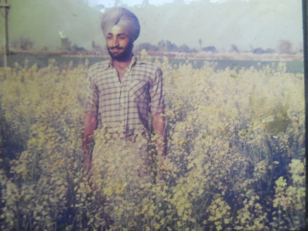 Photo of Karnail Singh, victim of extrajudicial execution on November 1, 1987Black cat