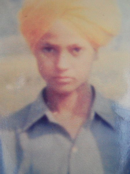 Photo of Amarjit Singh, victim of extrajudicial execution on August 10, 1989, in Khalra, by Punjab Police