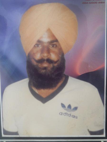 Photo of Sukhdev Singh, victim of extrajudicial execution between November 23, 1986 and November 23,  1987, in Tarn Taran, Jandiala, by Punjab Police