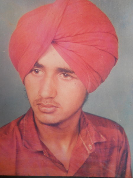 Photo of Pargat Singh, victim of extrajudicial execution on October 29, 1991, in Amritsar, by Punjab Police