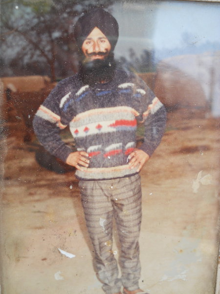 Photo of Sukhdev Singh, victim of extrajudicial execution on April 29, 1991, in Patti, by Punjab Police