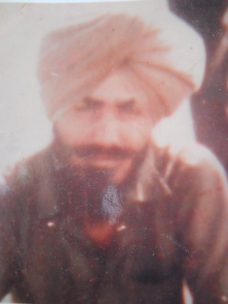 Photo of Mukhtiar Singh, victim of extrajudicial execution on July 23, 1991, in Muktsar,  by Punjab Police; Central Reserve Police Force, in Muktsar, by Punjab Police