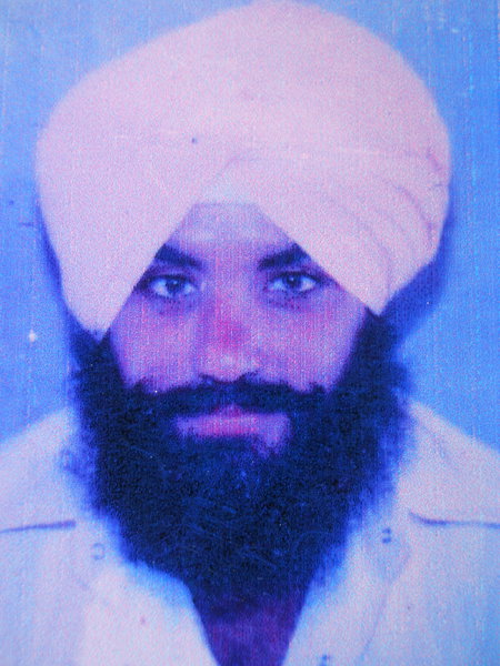 Photo of Satpal Singh, victim of extrajudicial execution on July 23, 1991, in Muktsar, by Punjab Police
