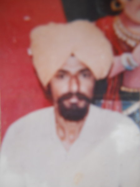 Photo of Ranjit Singh, victim of extrajudicial execution on September 13, 1993, in Bhikhiwind, by Punjab Police