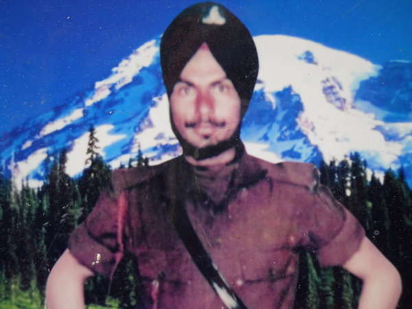 Photo of Sukhwant Singh, victim of extrajudicial execution between January 1, 1988 and January 31,  1988, in Khemkaran, Valtoha, by Punjab Police; Central Reserve Police Force